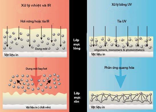 mực in UV